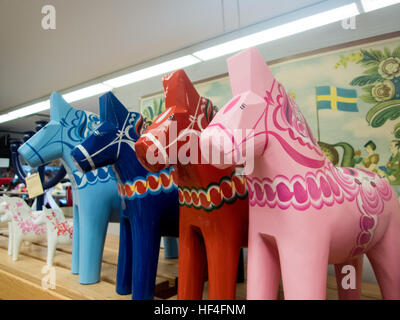 The Dala horse factory in Dalarna, Sweden - Stock Photo