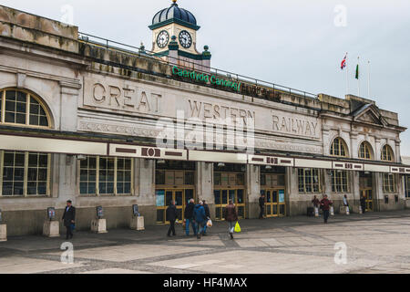 Cardiff Central Railway Station North Front, Cardiff City, Wales - Stock Photo