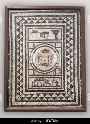 Mosaic from National Archaeological Museum, Naples, Italy - Stock Photo