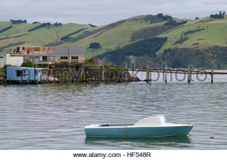 Otago Harbour. Otago Peninsula. Otago. South Island. New Zealand. - Stock Photo