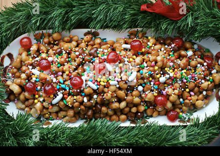 Struffili, neapolitan tipical xmas cake - Stock Photo