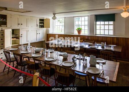 Interior view of dining hall, Canterbury Shaker Village; Canterbury; New Hampshire; USA