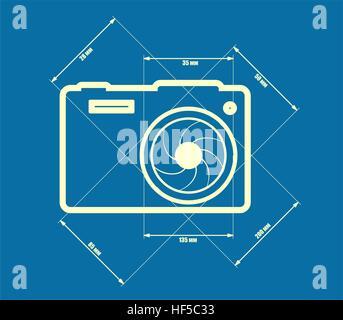 Photo camera icon. Vector. - Stock Photo