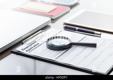 Businessman Or Hr Manager Review A Blank Employment Application