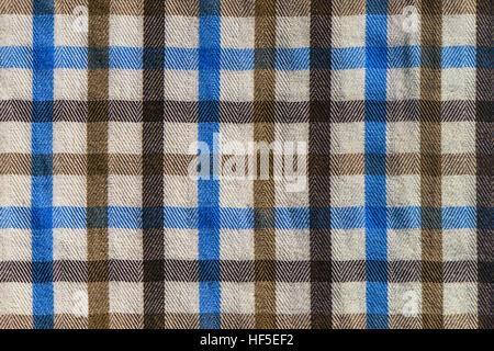 Plaid Fabric · Checkered Plaid Textile Material Pattern Texture, Macro    Stock Photo