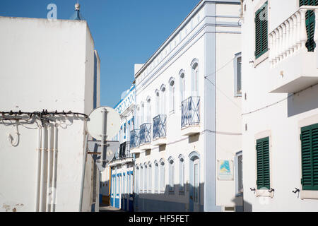 the town of Santa Luzia in the Algarve in the south of Portugal in Europe. - Stock Photo