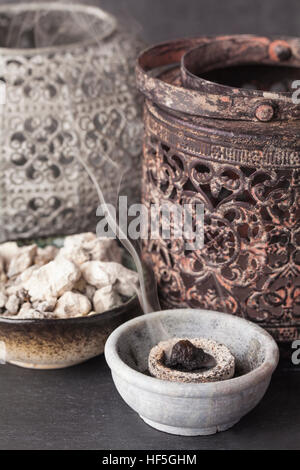 Copaifera officinalis resin (Copaiba - bearer) is an aromatic resin, used for religious rites, incense in Latin - Stock Photo