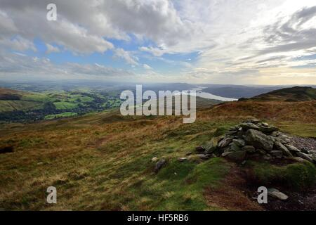 Windermere from Wansfell Pike - Stock Photo
