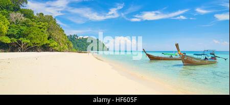 Sandy Beach at Bu Bu Island, Krabi Province, Thailand - Stock Photo