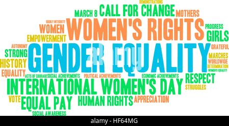 Gender Equality word cloud on a white background Stock ...