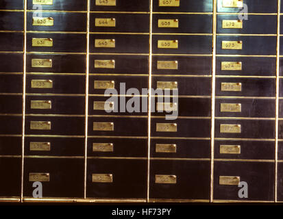SAFE DEPOSIT BOXES in bank vaults - Stock Photo