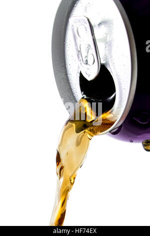 Pouring out from can of cola - Stock Photo