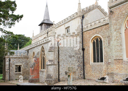 St Mary the Virgin and All Saints Church in Debden, Essex, England. - Stock Photo