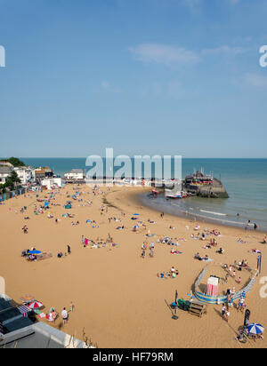 Viking Bay Beach, Broadstairs, Isle of Thanet, Thanet District, Kent, England, United Kingdom - Stock Photo