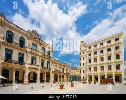 Havana, Cuba. Plaza Vieja, Habana Vieja, Havana, Cuba - Stock Photo