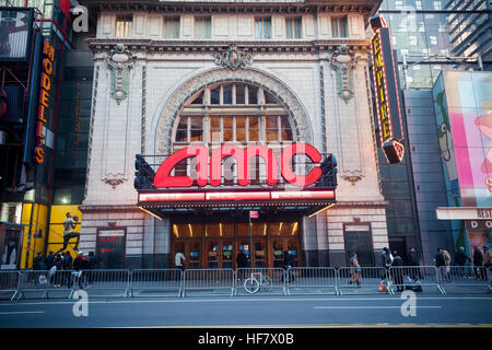 The AMC 25 Theatre in Times Square in New York on Tuesday, December 20, 2016. The U.S. Dept. of Justice has approved - Stock Photo