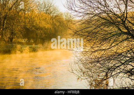 Aberystwyth Wales UK, Wednesday 28 December 2016 UK Weather: Cold and frosty morning in Aberystwyth, after a clear - Stock Photo