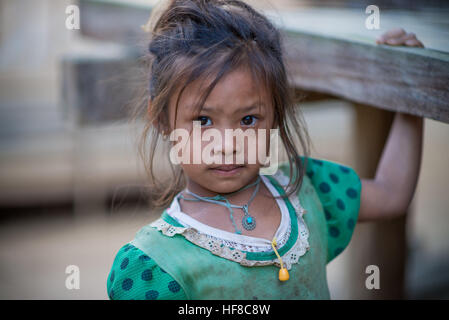 Ban Nongphou, Laos. 28th Dec, 2016. The Hmong are an ethnic group from the mountainous regions of China, Myanmar, - Stock Photo