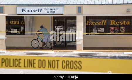 West Palm Beach, Florida, USA. 30th Dec, 2016. A 23-year-old man was killed early Thursday after an argument turned - Stock Photo