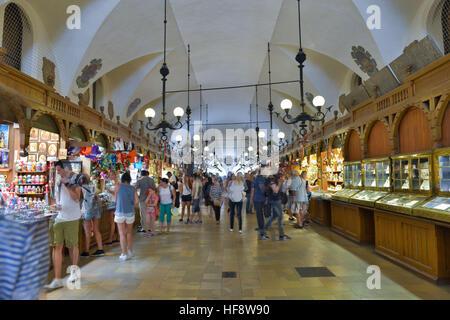 Tuchhallen, Hauptmarkt, Krakau, Polen, Cloth halls, central market, Cracow, Pole - Stock Photo