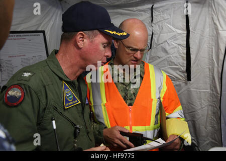 160607-N-DC740-010 OAK HARBOR, Wash. (June 7, 2016) Cmdr. Mike O'Donnell, public works officer, Naval Facilities - Stock Photo