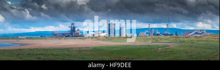 Derelict industrial plants at Redcar, Teeside. - Stock Photo