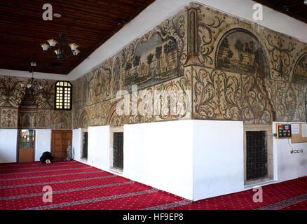 Prayer room, Et`hem Bey Mosque, Tirana, Albania - Stock Photo