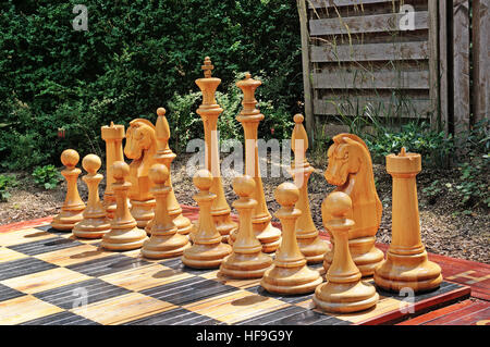 outdoor chess in a city park - Stock Photo
