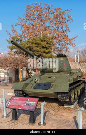 T-34 Medium Tank at War Memorial of Korea Museum in Seoul, South Korea - Stock Photo