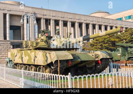 K-1 Main Battle Tank at War Memorial of Korea Museum in Seoul, South Korea - Stock Photo