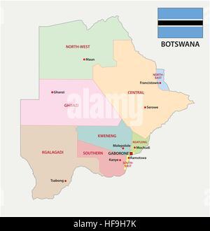 Botswana map Stock Photo 78752620 Alamy