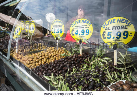 Ballaro market, Palermo, Sicily, Italy, Europe, - Stock Photo