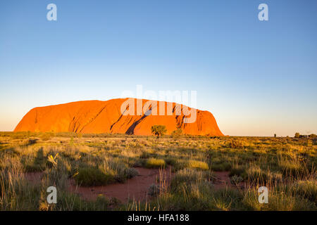 Uluru, Red Center, Northern Territory, Australia. - Stock Photo