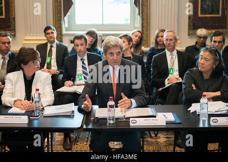 U.S. Secretary of State John Kerry chairs the Annual Meeting of the President's Interagency Task Force to Monitor - Stock Photo