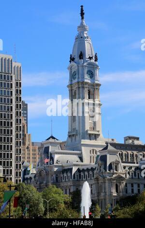 City Hall in Philadelphia. Stock Photo