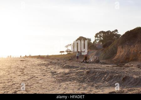 California beach friends - Stock Photo