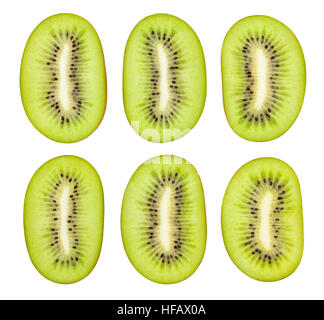 sliced kiwi isolated - Stock Photo