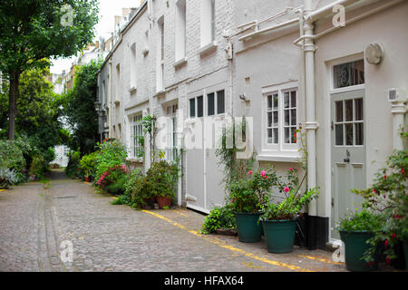 London Mews Houses in South Kensington - Stock Photo