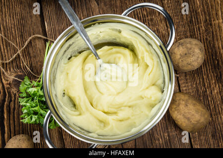 Some homemade Mash (selective focus) as detailed close-up shot) - Stock Photo