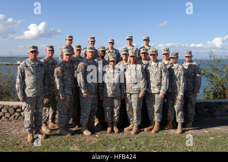 GUANTANAMO BAY, Cuba – Members of the 107th Mobile Public Affairs Detachment gather for a picture before departing - Stock Photo