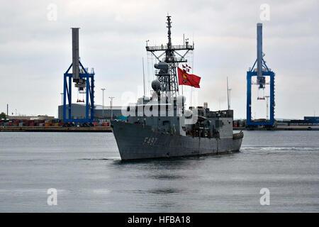 150516-N-IY633-046 COPENHAGEN, Denmark (May 16, 2015) – Standing NATO Maritime Group 2 (SNMG2) Turkish ship TCG - Stock Photo