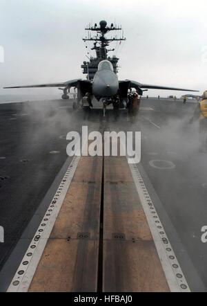 040322-N-6213R-211  Pacific Ocean (Mar. 22, 2004) - An F-14D Tomcat assigned to the 'Tomcatters' of Fighter Squadron - Stock Photo