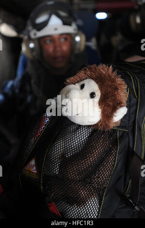 "GUANTANAMO BAY, Cuba – ""Bob,"" a plush monkey given to Information Systems Technician Seaman Apprentice Andrea Frank - Stock Photo"