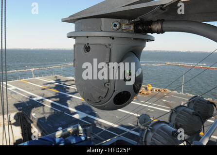 The Office of Naval Research-sponsored Situational Awareness System (SAWS) installed on the aircraft carrier USS - Stock Photo