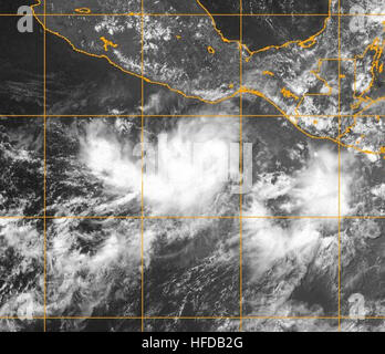 Tropical Storm Barbara (2007) - Stock Photo