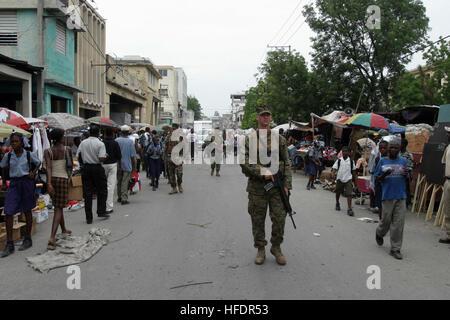 US Marine Corps (USMC) Marines, Lima Company, 3rd Battalion (BN), 8th Marine Regiment, 2nd Marine Division (Mar - Stock Photo