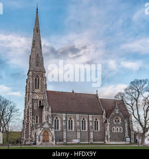 St. Alban's church, located in Copenhagen, Denmark. - Stock Photo