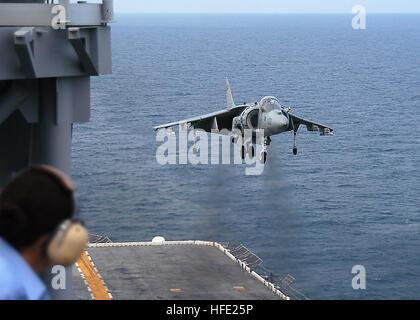 040712-N-0938S-003 Atlantic Ocean (July 12, 2004) - An AV-8B II Harrier assigned to the ÒBulldogsÓ of Marine Attack - Stock Photo