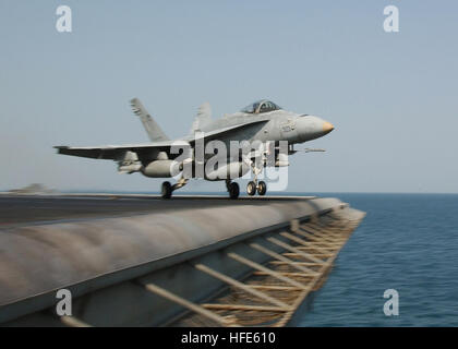 041117-N-4374S-007 Arabian Gulf (Nov. 17, 2004) - An F/A-18C Hornet assigned to the ÒRampagersÓ of Strike Fighter - Stock Photo