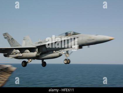 041117-N-4374S-008 Arabian Gulf (Nov. 17, 2004) - An F/A-18C Hornet assigned to the ÒRampagersÓ of Strike Fighter - Stock Photo